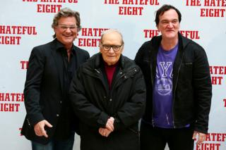 in_pictures Kurt Russell, Ennio Morricone and Quentin Tarantino pose for a picture together