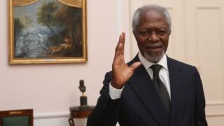 """L'ancien secrétaire général des Nations unies est considéré comme un """"champion de la paix""""."""