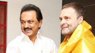 स्टालिन के साथ राहुल गांधी