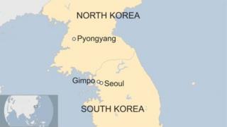 แผนที่เกาหลีเหนือเกาหลีใต้