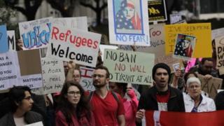 تظاهرات ضد فرمان ترامپ