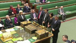 MPs vote on the Wales Bill.