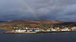 Rainbow over Ullapool
