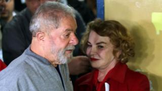 Luiz Inacio Lula da Silva and his wife Marisa Leticia. Photo: October 2016
