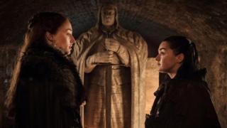 sansa Stark and Arya Stark in season seven of Game of Thrones