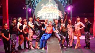 Performers at Circus Zyair with Ben Garnham