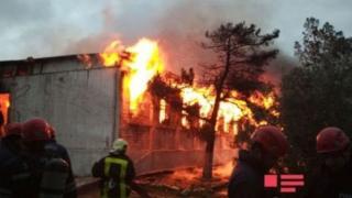 Bakü'de yangın