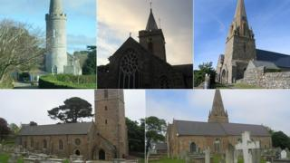 Five of Guernsey's parish churches