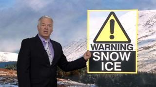 Derek Brockway with weather warning