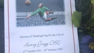 Harry Gregg funeral