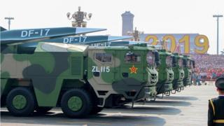 China's hypersonic glide vehicles featured in a 2019 Beijing parade