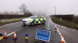The incident happened on the Moneynick Road on Saturday