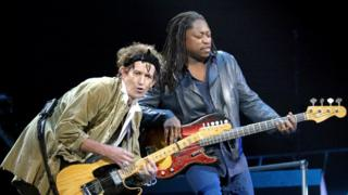 Keith Richards and Darryl Jones