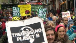 Protest march in Bristol