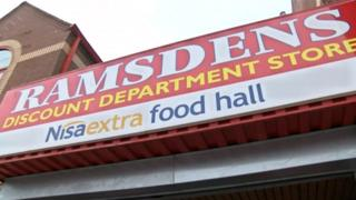 Ramsdens store sign