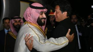 Mohammed Bin Salman embraces Imran Khan