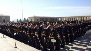 Anıtkabir'de subaylar