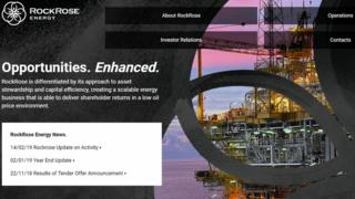 RockRose Energy website