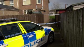 A police car at a house in Limavady