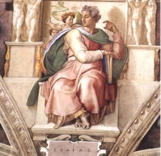 मायकल एंजेलो यांच्या पेंटिंगमध्ये प्रेषित इसाया. हे चित्र व्हॅटकिन सिटीच्या सिस्टीन चॅपलमध्ये लावण्यात आलेली आहे.