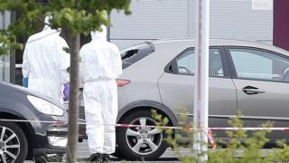 Bangor supermarket murder plant shot in front of son