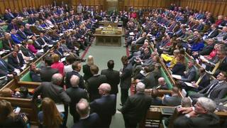 MPs in the Commons during Prime Minister's Questions