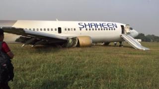 Shaheen Air plane at Allama Iqbal International Airport