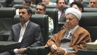 اکبر هاشمی رفسنجانی و محمود احمدینژاد