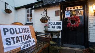 Polling station in Hampshire