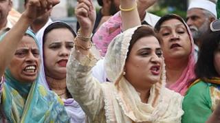 مسلم لیگ کا احتجاج