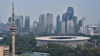 A view of Jakarta skyline
