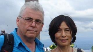 Peter Humphrey with wife Yu Yingzeng