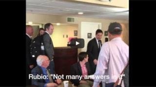 The video of Mr Rubio had inaccurate subtitles