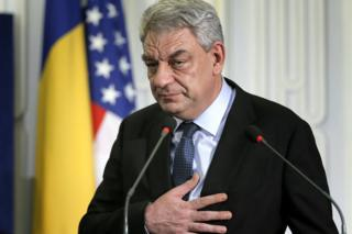 Romanian Prime Minister Mihai Tudose in Bucharest, 12 January 2018