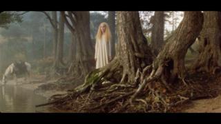 Scene from short film Black Angel