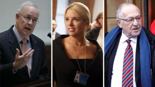 Composite image (left to right) of Ken Starr, Pam Bondi and Alan Dershowitz