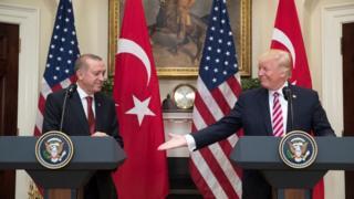 Erdoğan Trump el sıkışma
