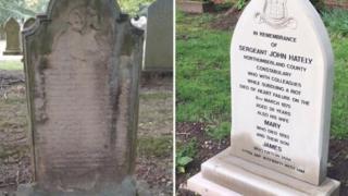 Headstone of Sgt John Hately