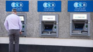 Man at TSB ATMs