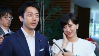 environment Shinjiro Koizumi and Christel Takigawa (file photo)