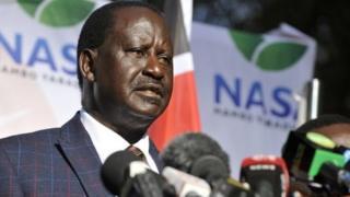 Kiongozi wa upinzani nchini Kenya Raila Odinga
