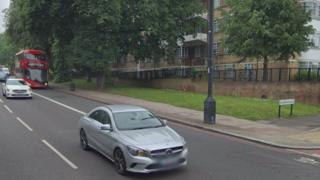 The scene of the crash on Brixton Hill