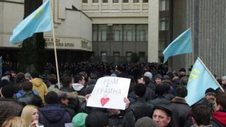 митинг у верховной рады Крыма