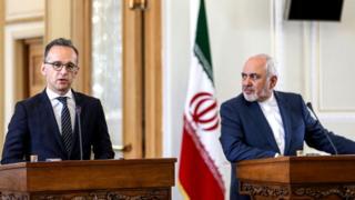 نشست خبری محمدجواد ظریف و هایکو ماس، وزرای خارجه ایران و آلمان