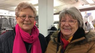 Sisters Janet Roche and Kay Susan Ballantyne