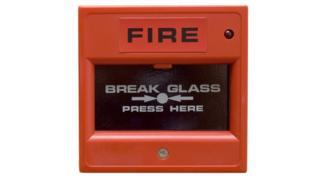 fire alarm stock shot