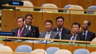 지난 9월 유엔 총회에 참석한 북한 대표부