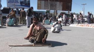 معذور افراد احتجاج
