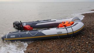 Migrant boat used to cross the channel