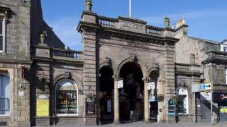 An entrance to Inverness' Victorian Market